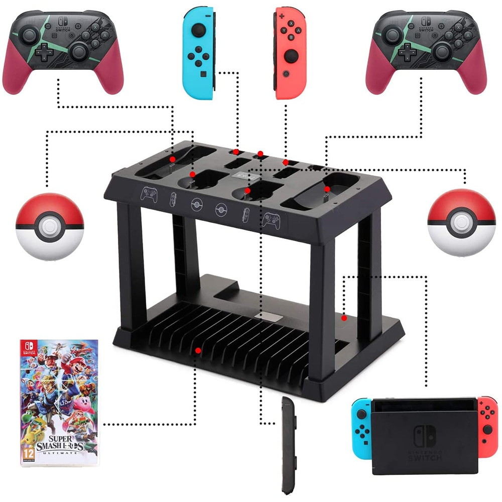 for Nintendos Switch Charging Dock Charger Storage Stand for NintendoSwitch Joycon Pro Controller Poke Ball Console Accessories enlarge