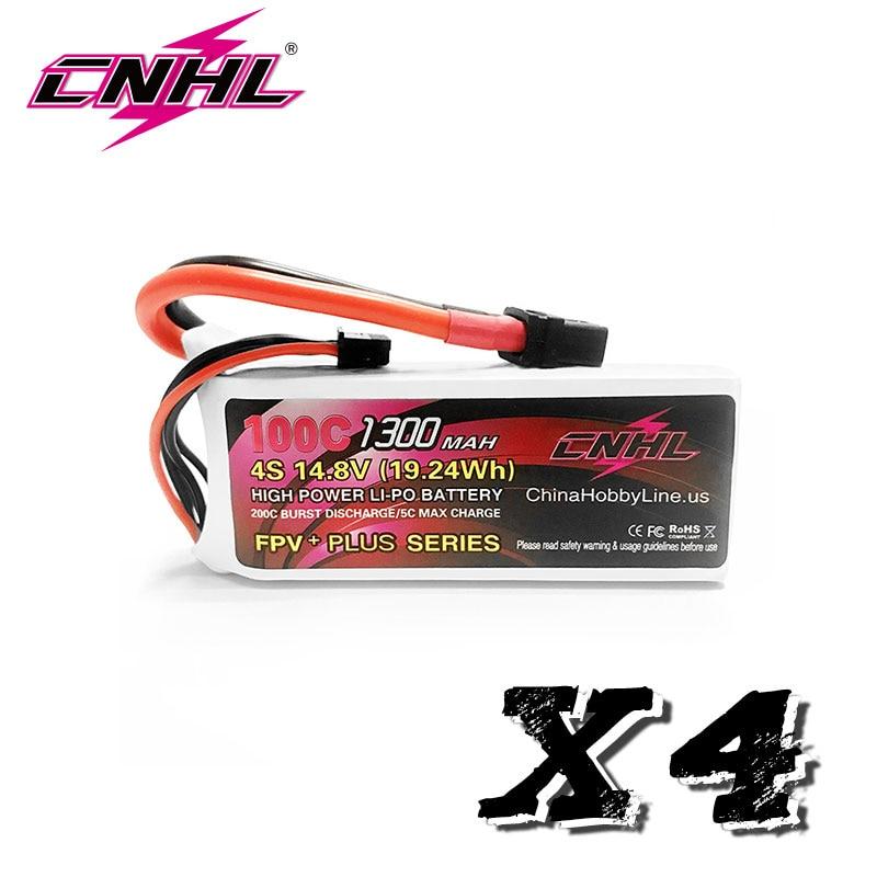 4 Uds 2 uds CNHL G + PLUS 1300mAh 4S 14,8 V 100C batería Lipo