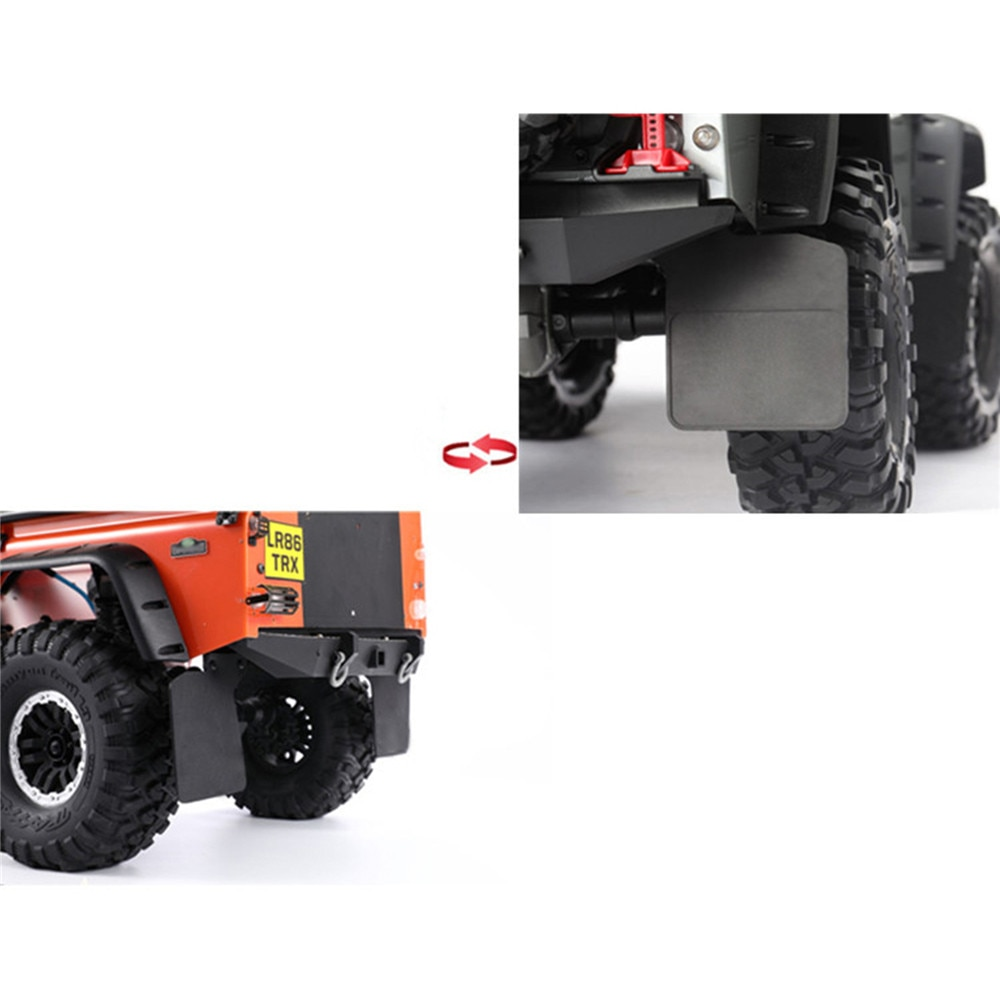 Rubber Front & Rear Mud Fender Mudguard with Metal Stand for 1/10 TRAXXAS TRX4 Defender D110 RC Car Parts Accessories enlarge