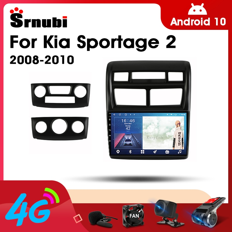 2 Din Android 10.0 Car Player Stereo audio Radio for Kia Sportage 2008- 2010 Multimedia Video Touch Screen 4G Wifi Speaker MP5