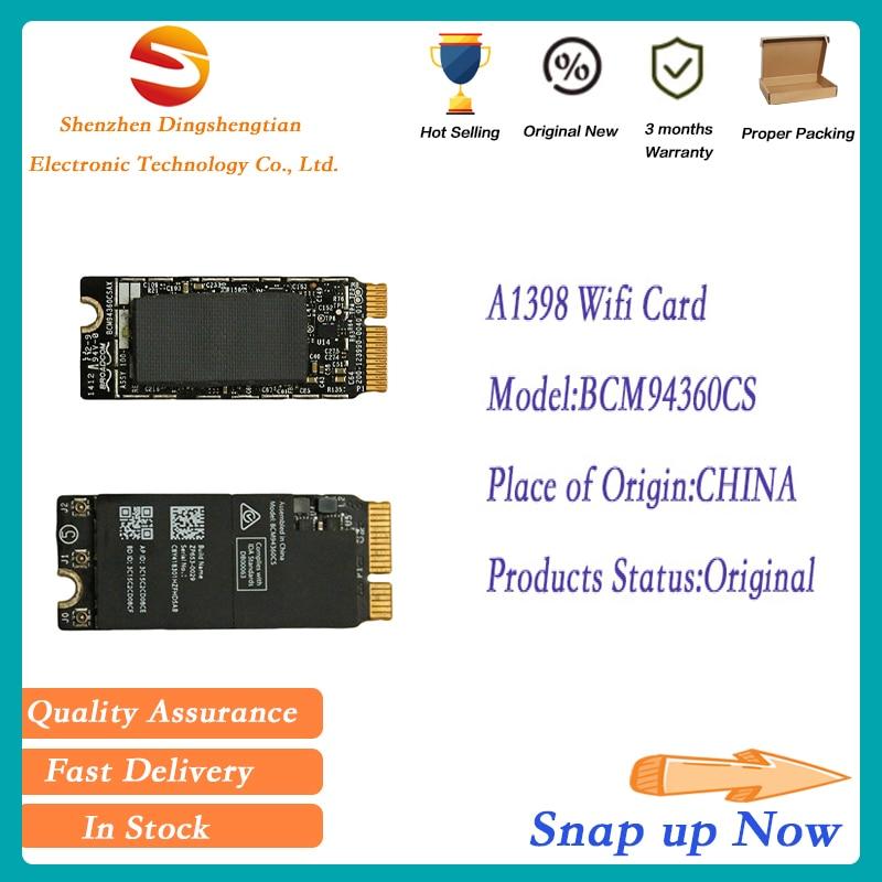 بطاقة واي فاي لاسلكية حقيقية 4.0 BCM94360CS لماك بوك برو A1398 2012 2013 2014 2015 year