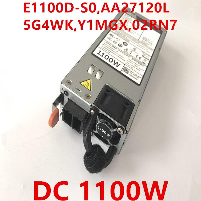 Nueva PSU para Dell R620 R720 R730 R520 DC48V 1100W fuente de alimentación E1100D-S0 AA27120L 5G4WK Y1MGX 02RN7