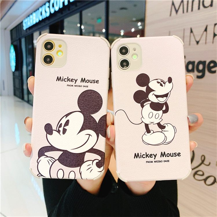 Disney original mobile phone case for iPhone12/11 pro/xsmax silicone protective cover  - buy with discount