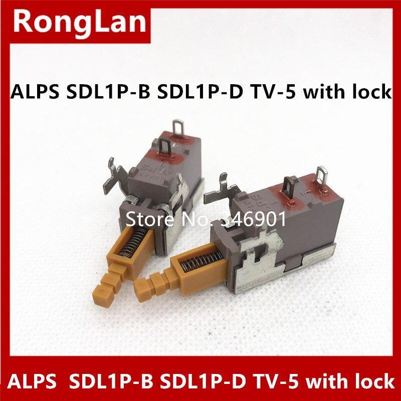 Импортный Alps кнопочный переключатель желтый SDL1P-B SDL1P-D с замком заостренные ноги высокая сила тока TV-5