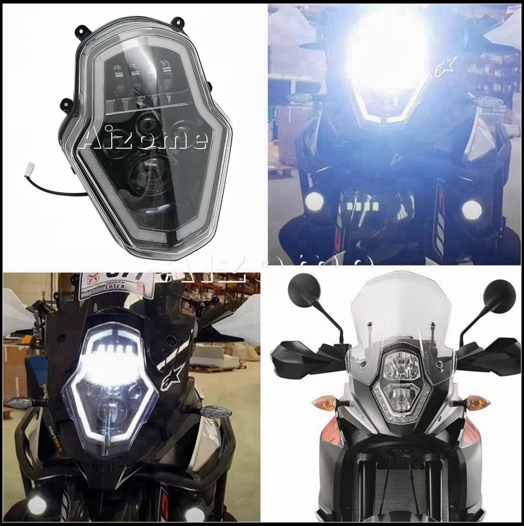 Supermoto-مصباح أمامي LED للدراجات النارية ، مجموعة المصباح الأمامي للدراجات النارية ، استبدال الأضواء 15-20 ، 1090/1190/1050/1290