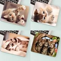 cute animal cat drop shipping small mouse pad kawaii mousepad mouse mat gaming carpet rug 29x25cm gaming pc gamer cabinet