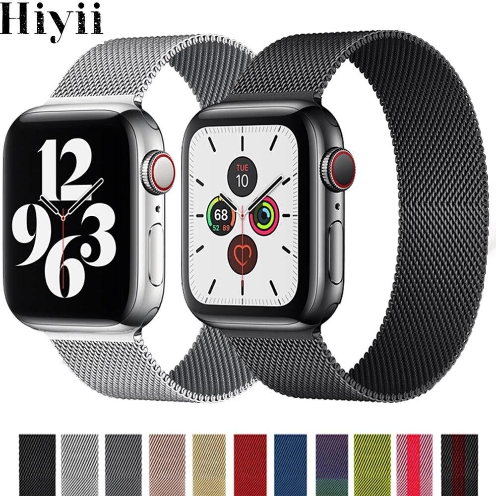 Фото - Milanese Loop Strap For Apple watch band 40mm 44mm 38mm 42mm watchband Metal mesh correa bracelet Apple watch Series SE 6 5 4 3 ремешок apple milanese loop для apple watch series 3 4 5 6 se графитовый myaq2zm a 44мм