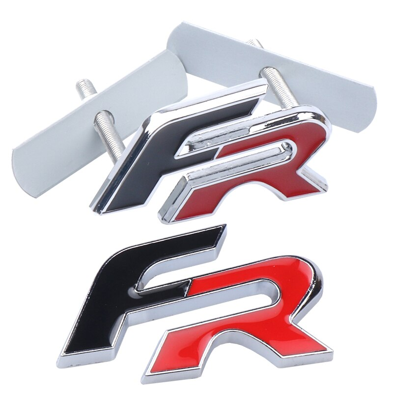 3D Metal FR Auto pegatinas emblema de rejilla delantera emblema coche estilo para Seat Leon FR + Ibiza Cupra Altea Exeo fórmula accesorio