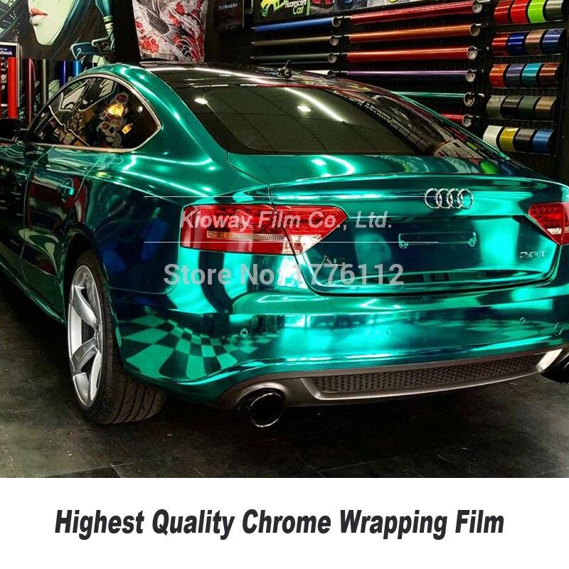 Alta qualidade hortelã chrome vinil espelho chrome vinil envoltório carro folha chrome envolve várias cores baixa inicial aderência adesivo
