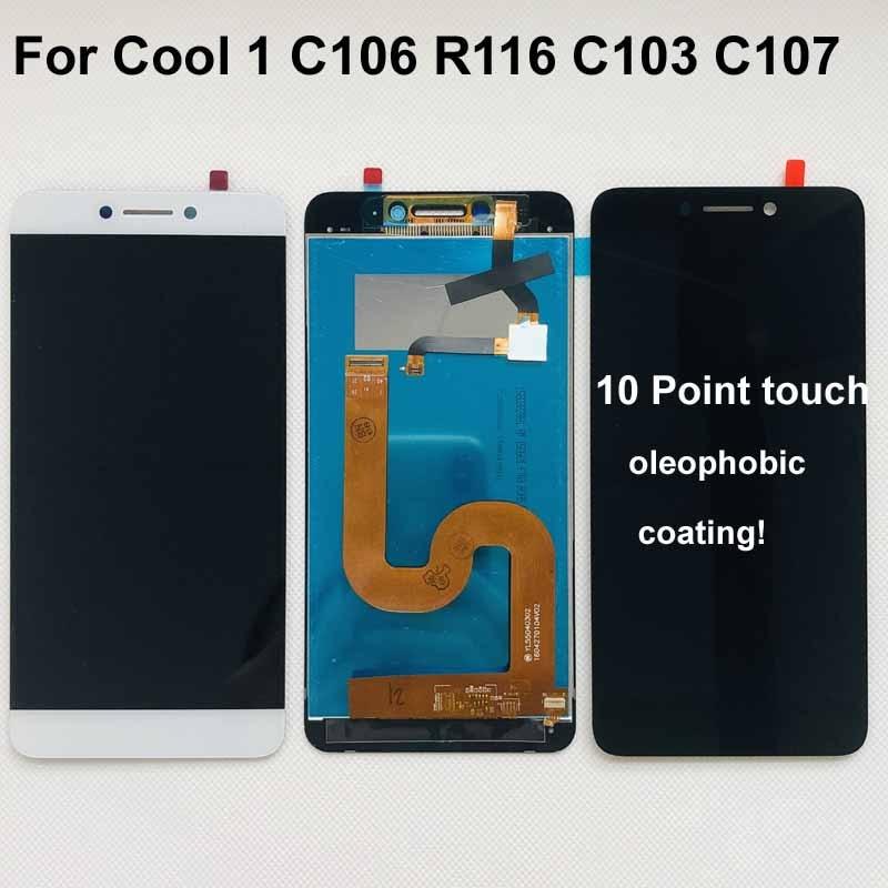 Original para cool1 dupla c106 r116 c103 display lcd de toque digitador da tela substituição assembléia para letv le leeco coolpad legal 1c