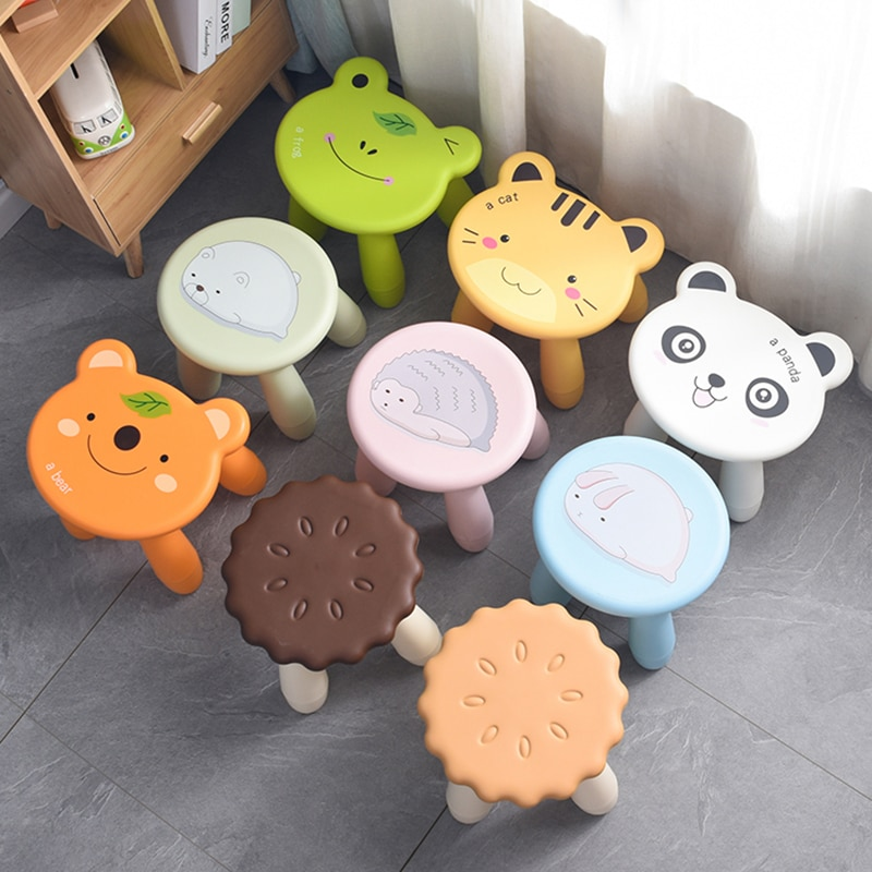 Child Stools Creative Home Low Stool Kindergarten Cute Little Cartoon Bench Kitchen Dinning Chair For 1-2T Baby
