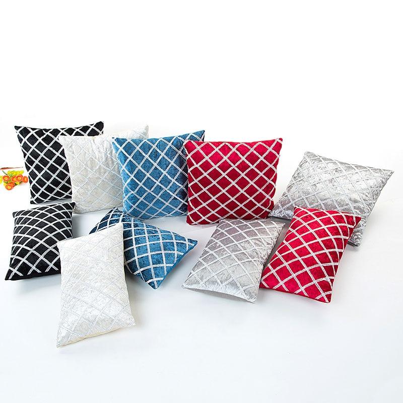 Наволочка с геометрическим рисунком для домашнего декора, наволочка для подушки, декоративные подушки для дивана, подушки для сиденья 45x45 с...