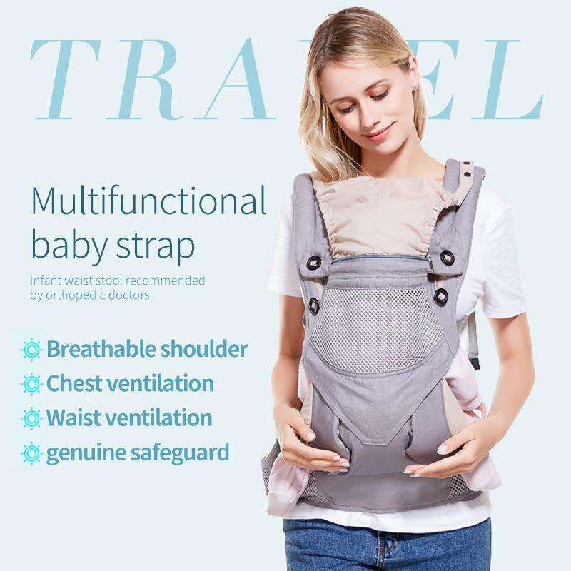 Portabebés ergonómicos mochila ajustable 3-48M Portable bebé Sling Wrap algodón Manduca bebé recién nacido canguro bolsa Hipseat