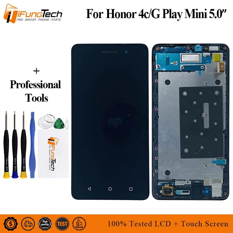 5 pulgadas para Huawei Honor 4C CHM-U01/G jugar Mini CHC-U01 CHC-U03 pantalla LCD de pantalla táctil digitalizador Asamblea herramientas