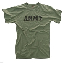 army t-shirt olive drab printed vintage style cotton poly blend rothco 66400 Gift Print T-shirtHip Hop Tee Shirt 2019 hot tees
