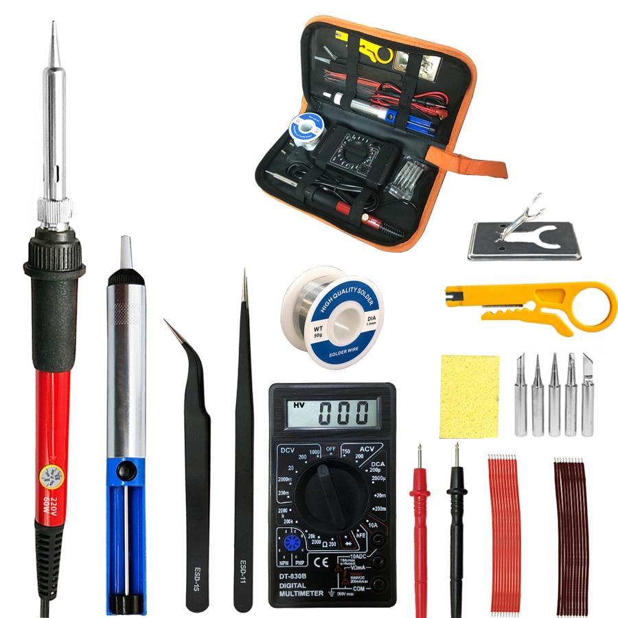 60W Temperature Adjustable Soldering Iron Electric Welding Solder iron station&soldering iron tips repair phones computer ts100