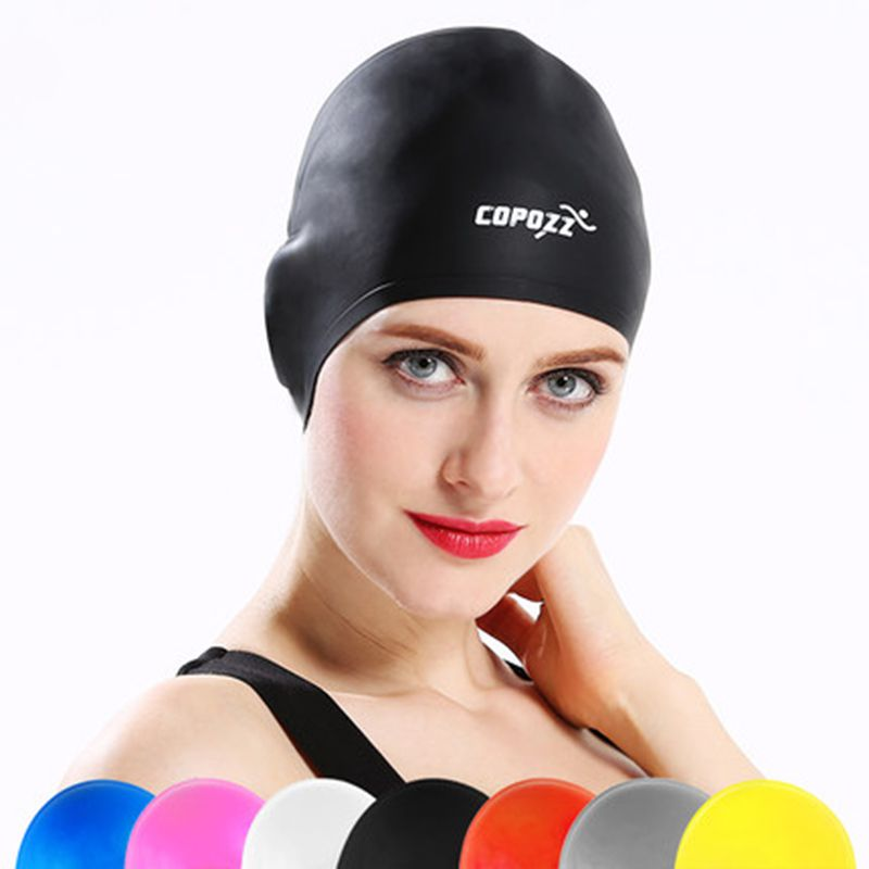 Gorra de natación profesional de alta calidad Unisex deportes silicona impermeable orejeras Protector de oído gorra de natación