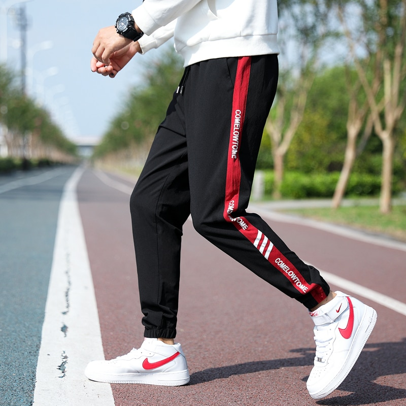 2021 Новинка для мужчин, спортивные штаны, штаны-шаровары повседневные штаны с эластичной резинкой на талии модные мужские брюки уличная Джог...