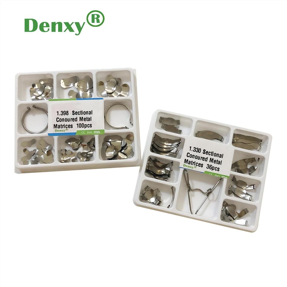Denxy 2 коробки, стоматологические Матричные полосы, секционные Контурные матрицы, седло, контурные клинья, стоматологические секционные Конт...