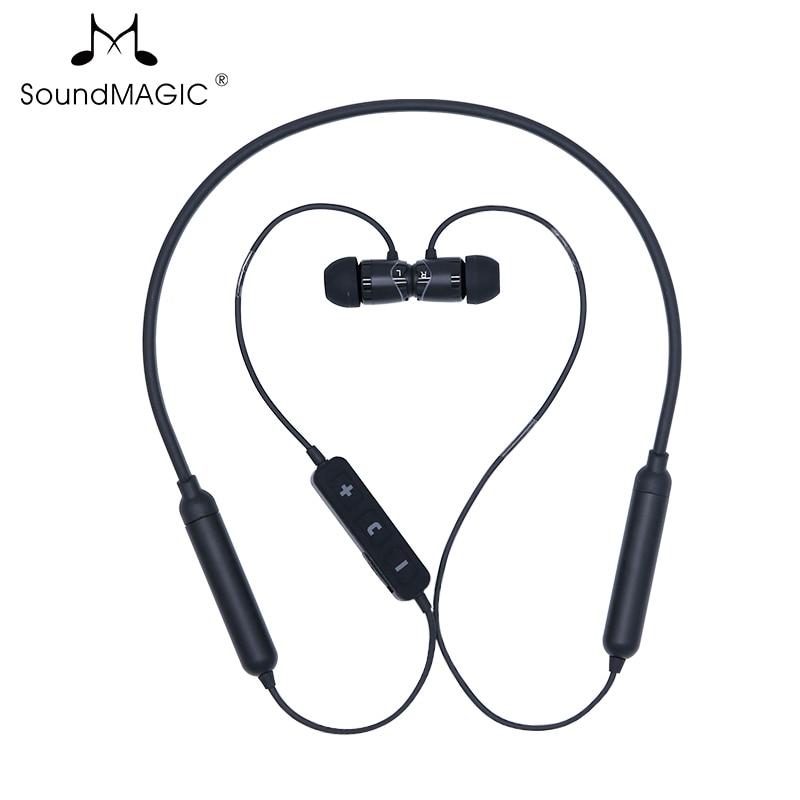 SoundMAGIC-سماعة رأس لاسلكية E11BT ، bluetooth v5.0 ، سماعات أذن رياضية ، خفيفة الوزن ، تصميم شريط حول الرقبة ، توفر عمر بطارية لا يصدق