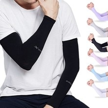 Unisex Sun Cooling Arm Sleeves Cover Cycling Running UV Sun Protection Outdoor Men Nylon Cool Arm Sl