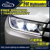 akd car styling head lamp for 2018 highlander headlights all new kluger led headlight led drl h7 d2h hid angel eye bi xenon beam