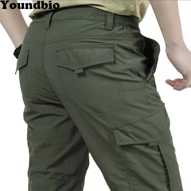Men Army Military Lightweight Tactical Multi Pocket Cargo Pants Outdoor Casual Breathable Waterproof