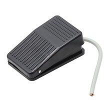 1 stücke Schwarz Selbst-zurücksetzen SPDT Rutschfeste Metall Momentary Electric Power Fuß Pedal Push Button Schalter FS-1