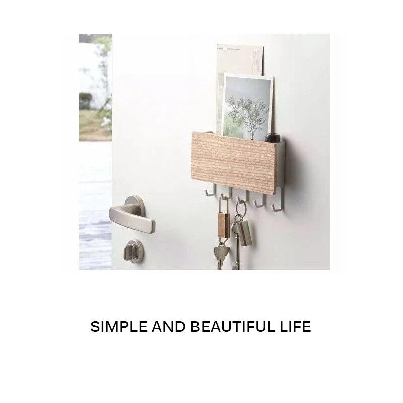 Sostenedor de llave de madera, organizador de almacenamiento de llaves de pared, magnético fuerte colgador de llavero, ganchos de llavero, vendedor, ama de llaves, soporte de llavero