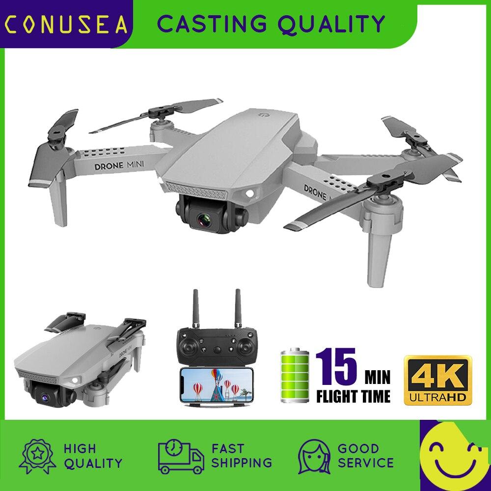 CONUSEA-طائرة بدون طيار صغيرة E88 Pro 4k 1080P مع كاميرا مزدوجة ، واي فاي ، FPV ، قابلة للطي ، مروحية RC ، كوادكوبتر ، صورة شخصية ، لعبة أطفال ، هدية