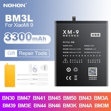 Аккумулятор Nohon BM3L для Mi 9, батарея BM47, BN41, BN30, BN45, BM50, BN43, BM3A, BM39, BM3E, BN44, BN46, BM3K, BN4A, BM3M для Xiaomi Redmi Note 4, 4A