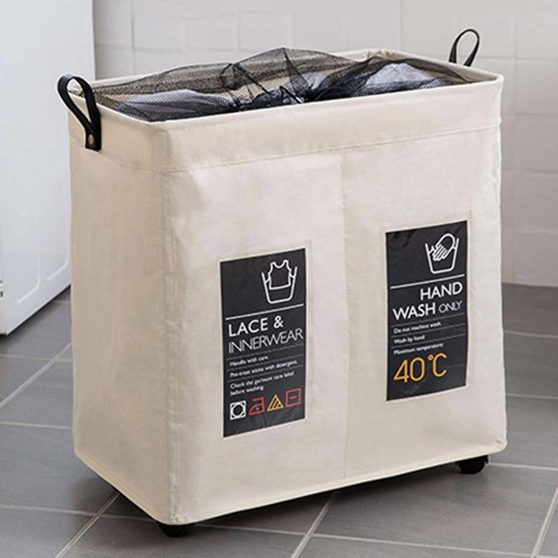 سلة التخزين قابلة للطي مع عجلات العجلات سلة الغسيل للطي كبير يعوق برميل الملابس القذرة حقيبة الغسيل المنظمة