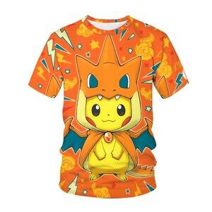 Summer Fashion new 3D printing Men T-shirt Japanese anime Kawaii character pattern Peripheral Children clothing T shirt For Boys