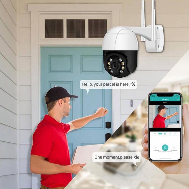 1080P PTZ Wifi IP Camera Outdoor 4X Digital Zoom AI Human Detect Wireless Camera H.265 P2P ONVIF Audio 2MP Security CCTV Camera 6