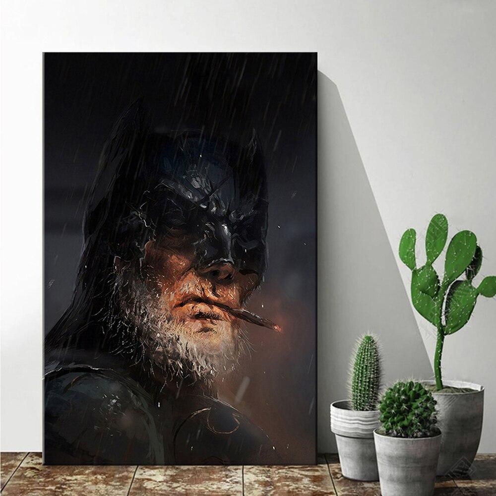 Картина из фильма Marvel Бэтмен на холсте Мстители плакаты и печать настенное искусство картина для гостиной домашний Декор без рамки кукро