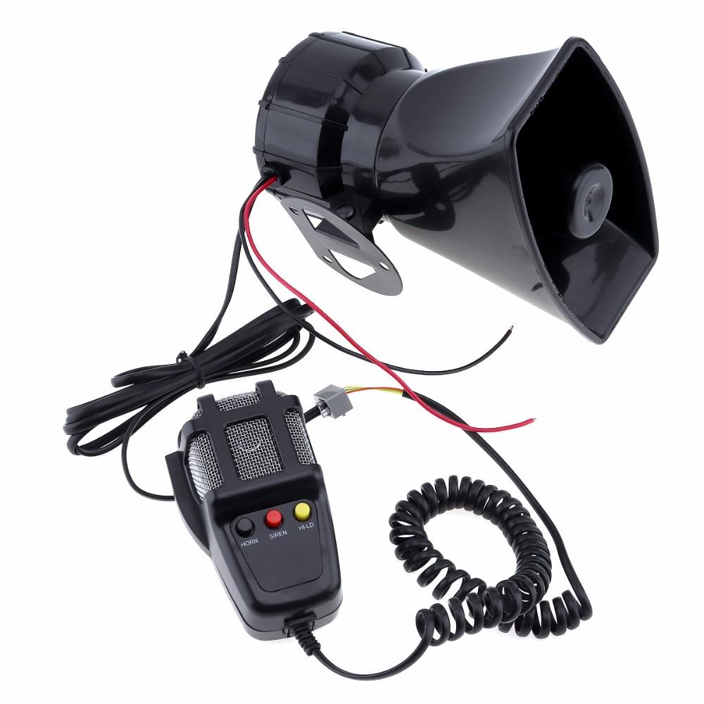 100W 12V 3 / 5 / 7 Sound Car Electronic Warning Siren Motorcycle Alarm Firemen Ambulance Loudspeaker with MIC for Car