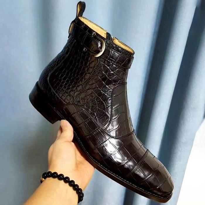 الرجال بو الجلود أحذية أنيقة منخفضة الكعب هامش أحذية فستان أحذية البروغ أحذية الربيع الأحذية خمر الذكور الكلاسيكية عادية HA505