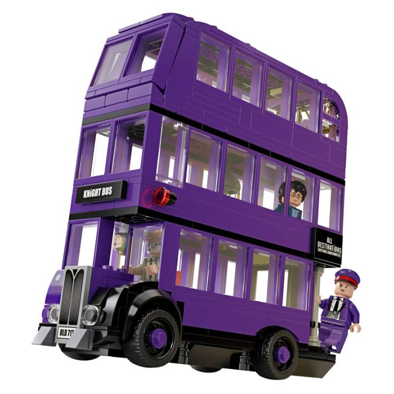 O cavalier ônibus modelo blocos de construção com filme mágico figuras ação tijolos conjunto presentes brinquedos educativos para crianças