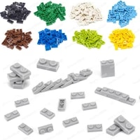base 1x2 dots building block accessories moc military street view scenes model component assembly child educational diy toys