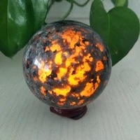 5a natural stone yooperlite crystal ball powerful chakra energy wicca crystals and stones sphere healing spiritual witchcraft