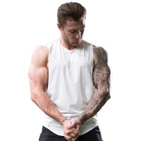 summer running sports vest sports fitness solid color vest mens loose and quick drying training sleeveless sports t shirt