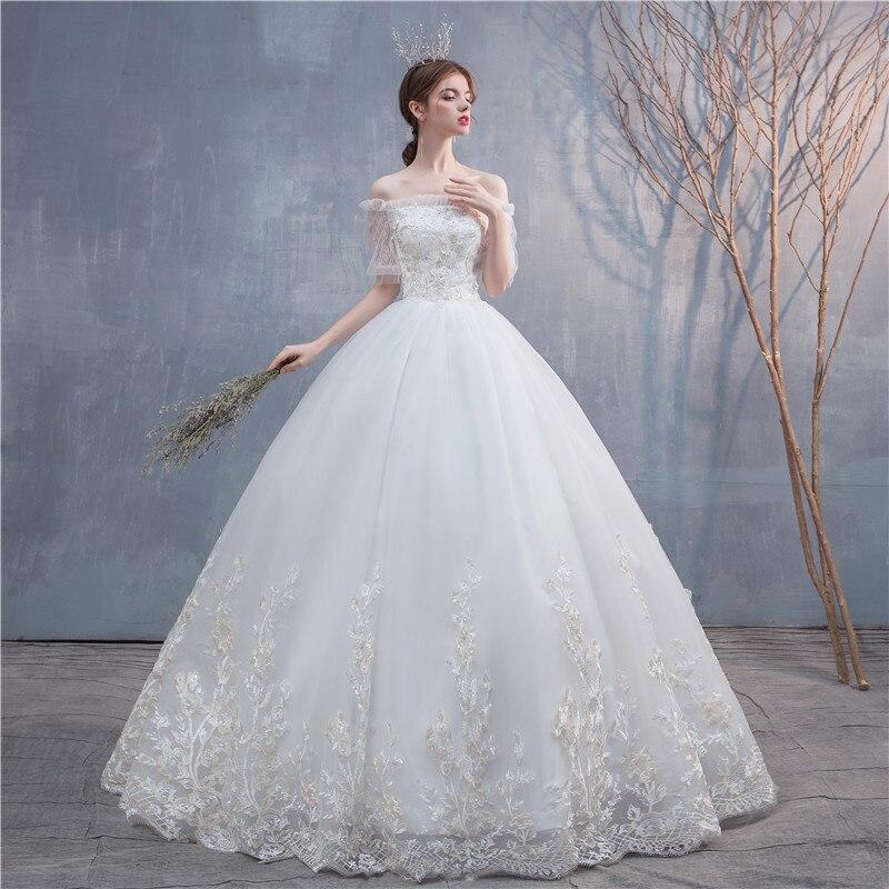 Get Off White Belt Handmade Pearl Wedding Dress Mesh Sequin Skirt Sweet Neat Wedding Dress Lace Wedding Dress Vintage