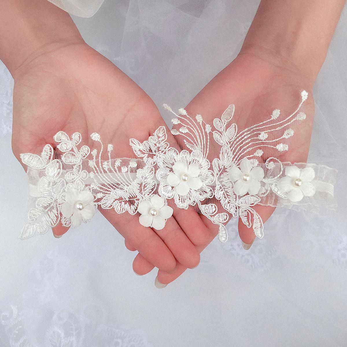 Kyunovia Lingerie Wedding Gift Party Bridal Accessories Sexy Lace Leg Garter Belt Women Elastic Leather Leg Ring Garter BY36