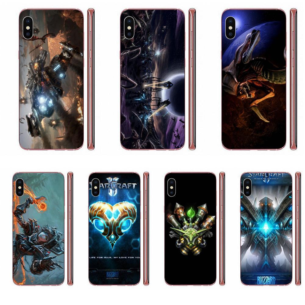Arte design exclusivo nova moda caso de telefone para apple iphone 11 pro x xs max xr 4 4S 5 5c 5S se se2 6 s 7 8 mais starcraft