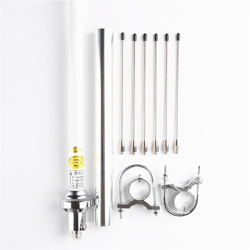 144/435Mhz dual band vhf uhf omni fiberglass base antenna SO239 SL16-K outdoor repeater walkie talkie UV antenna enlarge