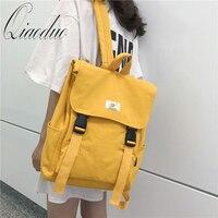 Qiaoduo Waterproof Backpack Women Canvas School Bags Travel Bag Teenage Girls Bagpack Rucksack Ladies Sac A Dos Mochila Mujer