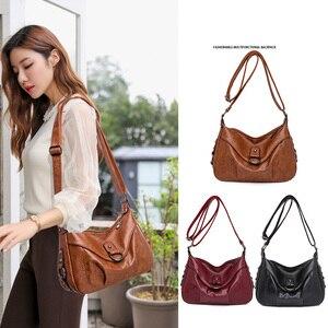 2020 Bolsas Soft Leather Luxury handbags Women bags Designer Multi-pocket Crossbody Shoulder Bags For Women Sac hot sale brown