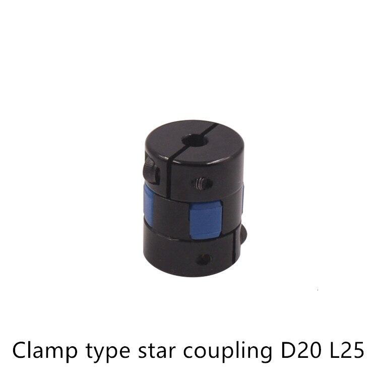Шнековая муфта, черная D 20 мм L 25 мм Синяя Звезда слива, зажимные Гибкие Муфты; Для валов, муфт, энкодер, шаговый двигатель
