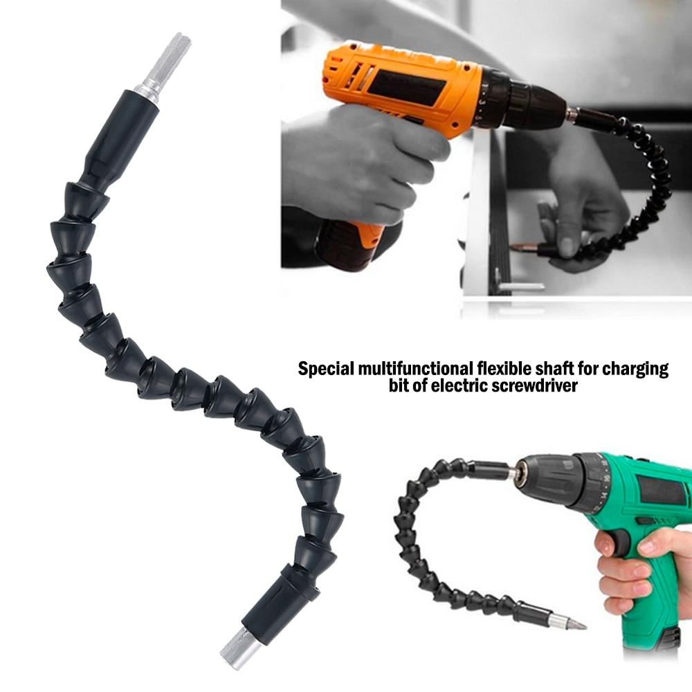 1 4 extension screwdriver drill bit flexible shaft bit holder connecting link Flexible Shaft Screwdriver Extension Link Rod Drill Bit Holder 250/295mm Flexible Connecting Link Power Tool Accessories