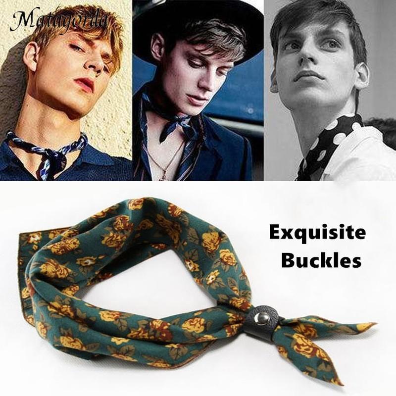Мужской шарф диаметром 60*60 см, хлопковый шейный платок, карманный квадратный платок, модный аксессуар, галстук Ascot, шейный платок